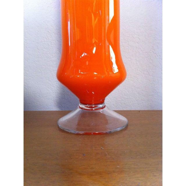 Image of Cased Cylinder Orange Vase