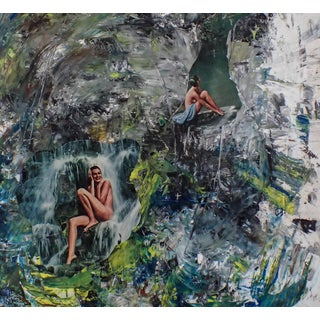 Paradise Acrylic Painting/Collage
