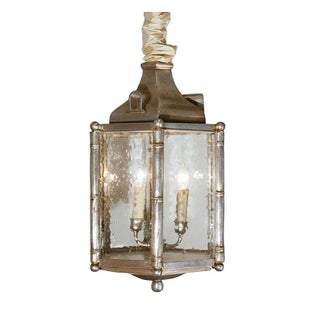 Silvered Faux Bamboo Lantern