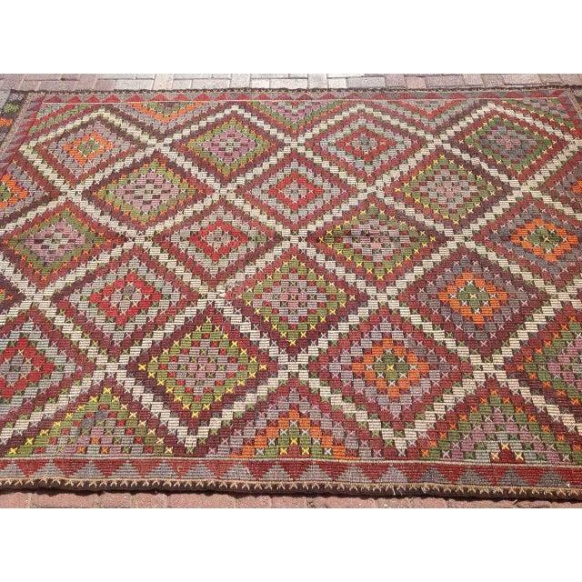 Image of Vintage Turkish Kilim Rug - 6′9″ × 9′11″