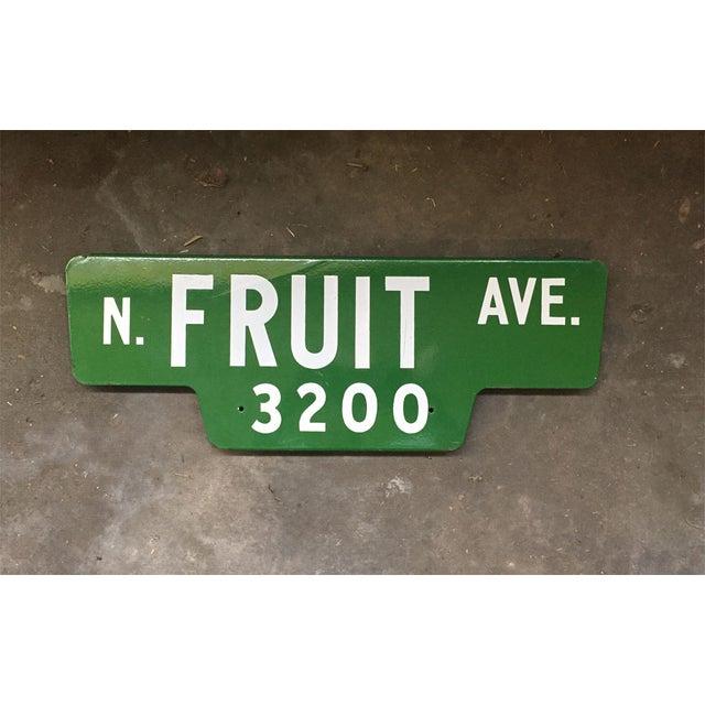 Image of Vintage Street Sign, N Fruit Ave