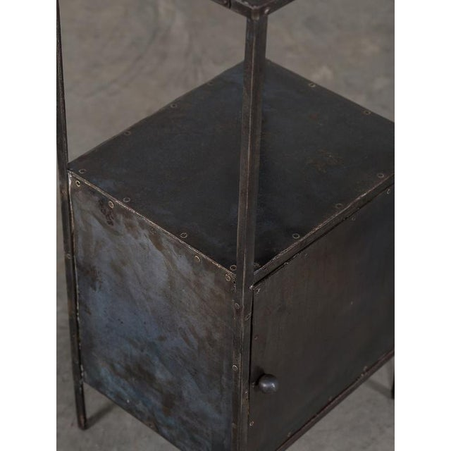 Vintage Industrial French Metal Cabinet with Light circa 1940 - Image 6 of 11