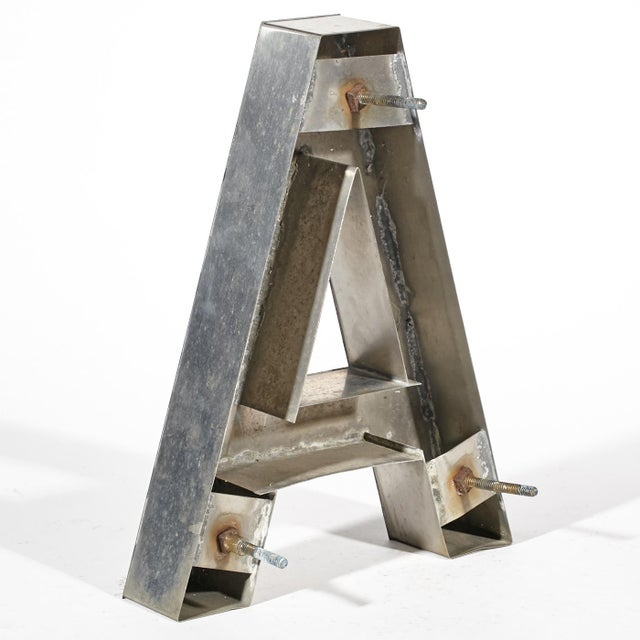 """Image of Aluminum """"A"""" Letter"""