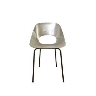 """Pierre Guariche """"Tonneau"""" Cast Aluminum Chair"""