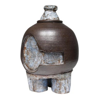 Mid-Century Brutalist Glazed Ceramic Sculpture/Vase, circa 1960s