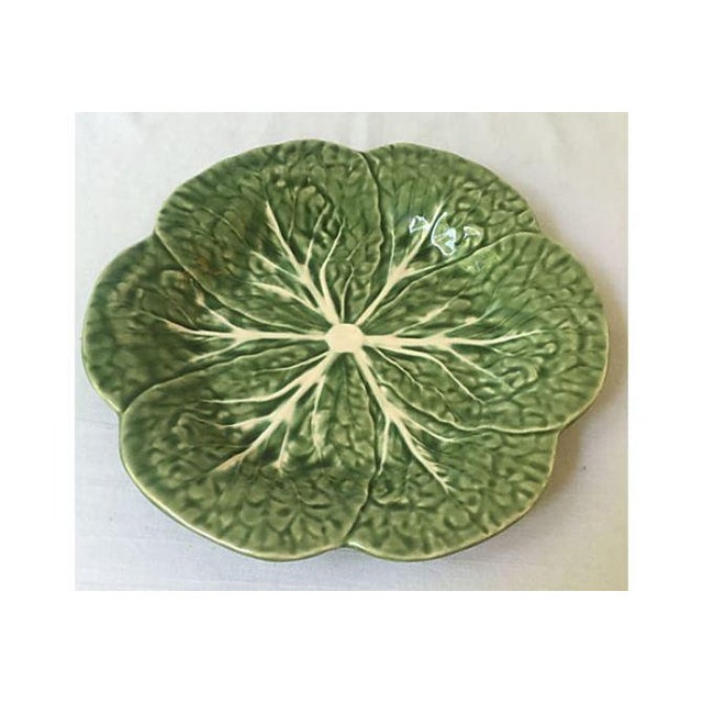Vintage Green Cabbage Leaf Serving Plate - Image 3 of 5
