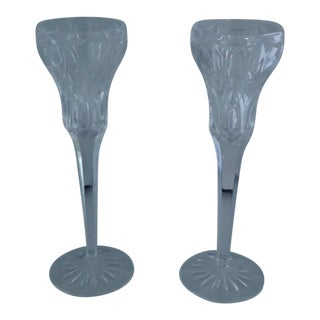 Elegant Marquis by Waterford Canterbury Candlesticks S/2