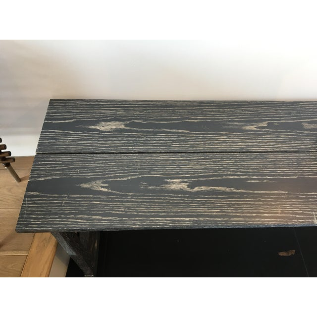 Image of Custom Gray Trestle Console