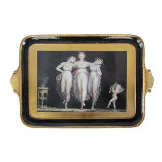 Black & Gold Florentine Tray