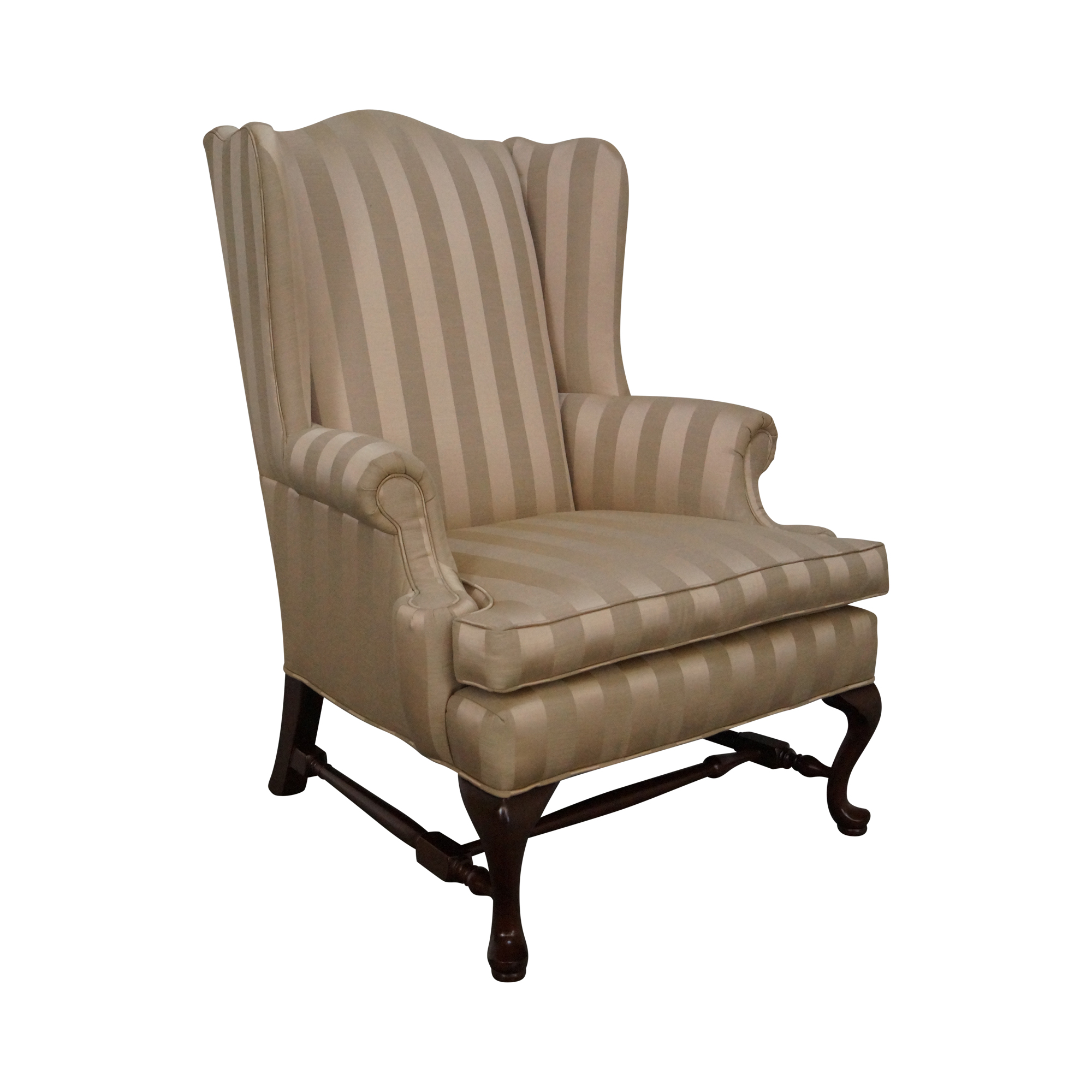 Ethan Allen Queen Anne Wingback Chair  Chairish. Traditional Kitchens. Contemporary Metal Wall Art. Covered Decks. Bona Traffic. Fancy Bench. Galaxy Granite. Samuel And Sons. Bulova Table Clock