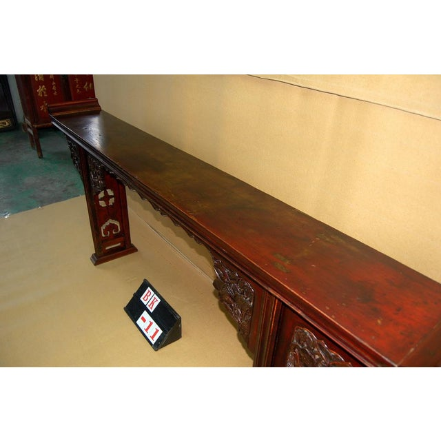 Asian Antique Carved Altar Table - Image 7 of 7