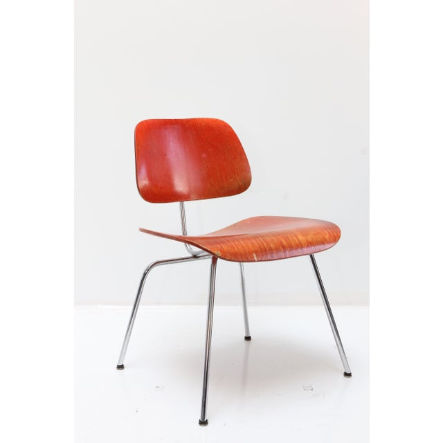Herman Miller DCM Chair Red Aniline - Image 11 of 11