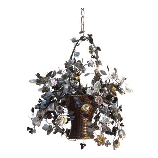 Antique Flower Basket Chandelier