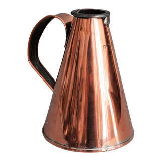 Early English Copper Pint Tavern Ale Jug