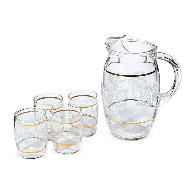 Gilt-Banded Ivy Beverage Set - Set of 5 - Image 1 of 3