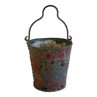 Vintage Red Fire Brigade Bucket
