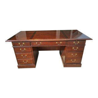 Large Brown Executive Desk