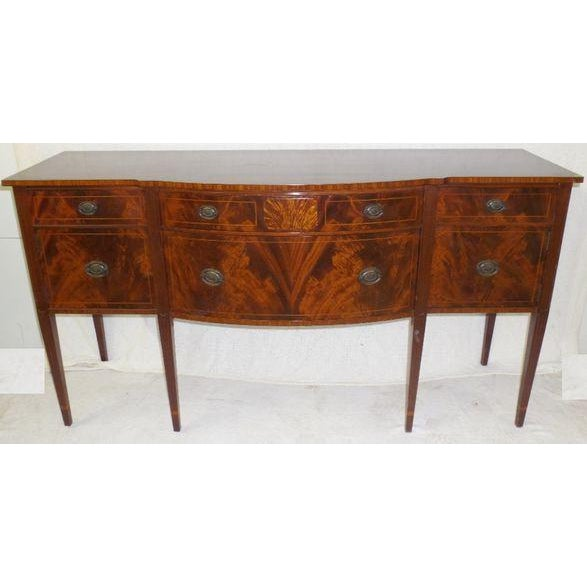 Antique Federal Serpentine Flame Mahogany Buffet - Image 2 of 11