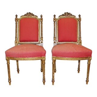 French Louis XVI Style Side Chairs - A Pair
