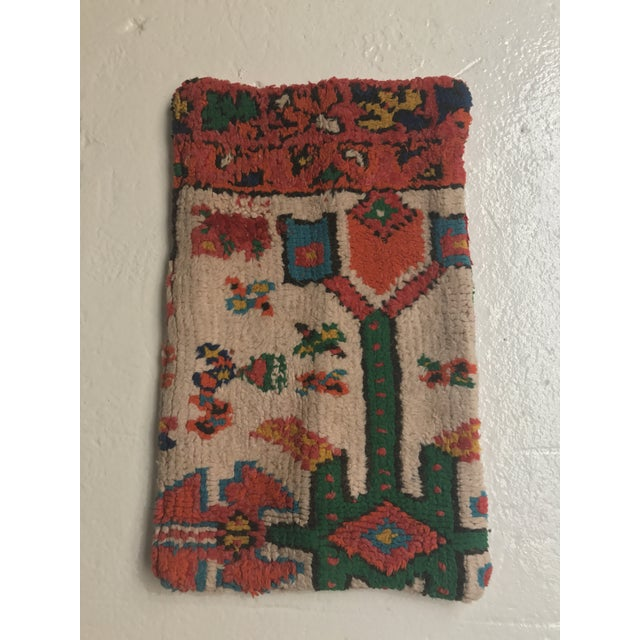 Stuffed Vintage 100% Moroccan Rug Wool Pillow Made in Marrakesh - Image 2 of 11