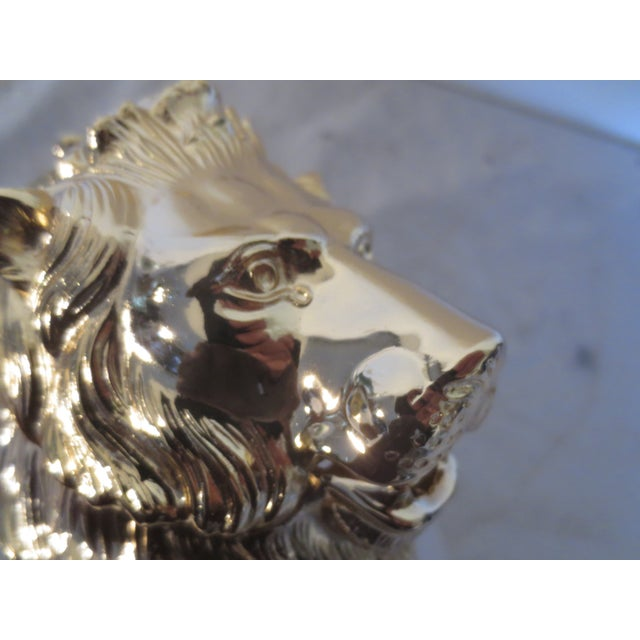 Image of Vintage Carol Stupell Pitcher with Brass Lion