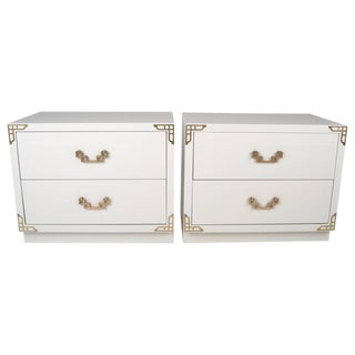 Pair of Lacquered Nightstands, USA, circa 1960s