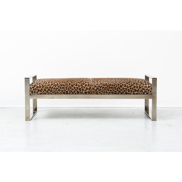 Milo Baughman Leopard Bench Chairish