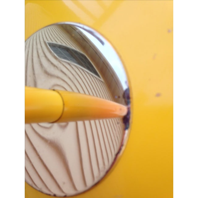 Image of Yellow Mid Century Modern Bullet Floor Lamp