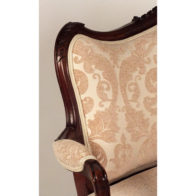 Louis XV-style Carved Frame Settee - Image 5 of 8