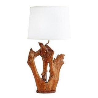 Mid-Century Cabin-Style Wood Lamp