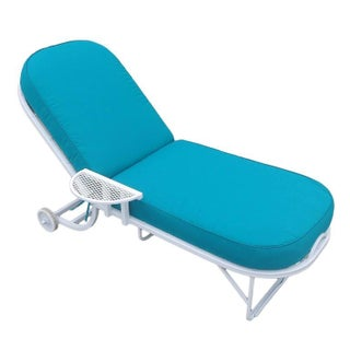 Oval Steel Spring Patio Chaise Lounge by Woodard - 12 Available