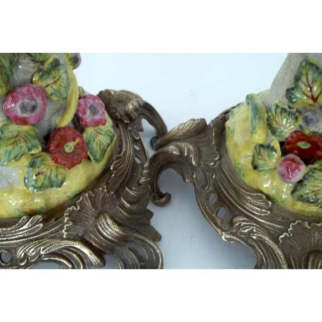 Vintage Green Parrot Candle Holders - a Pair - Image 5 of 5