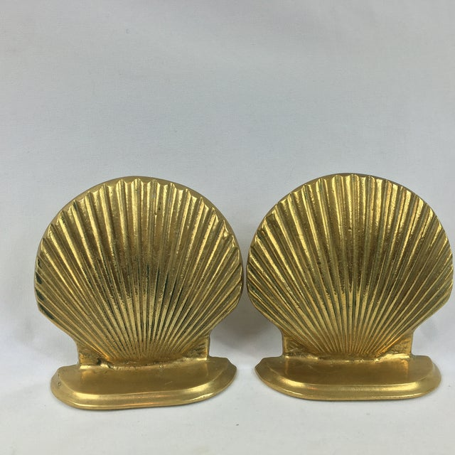 Mid-Century Brass Shell Bookends - A Pair - Image 3 of 7