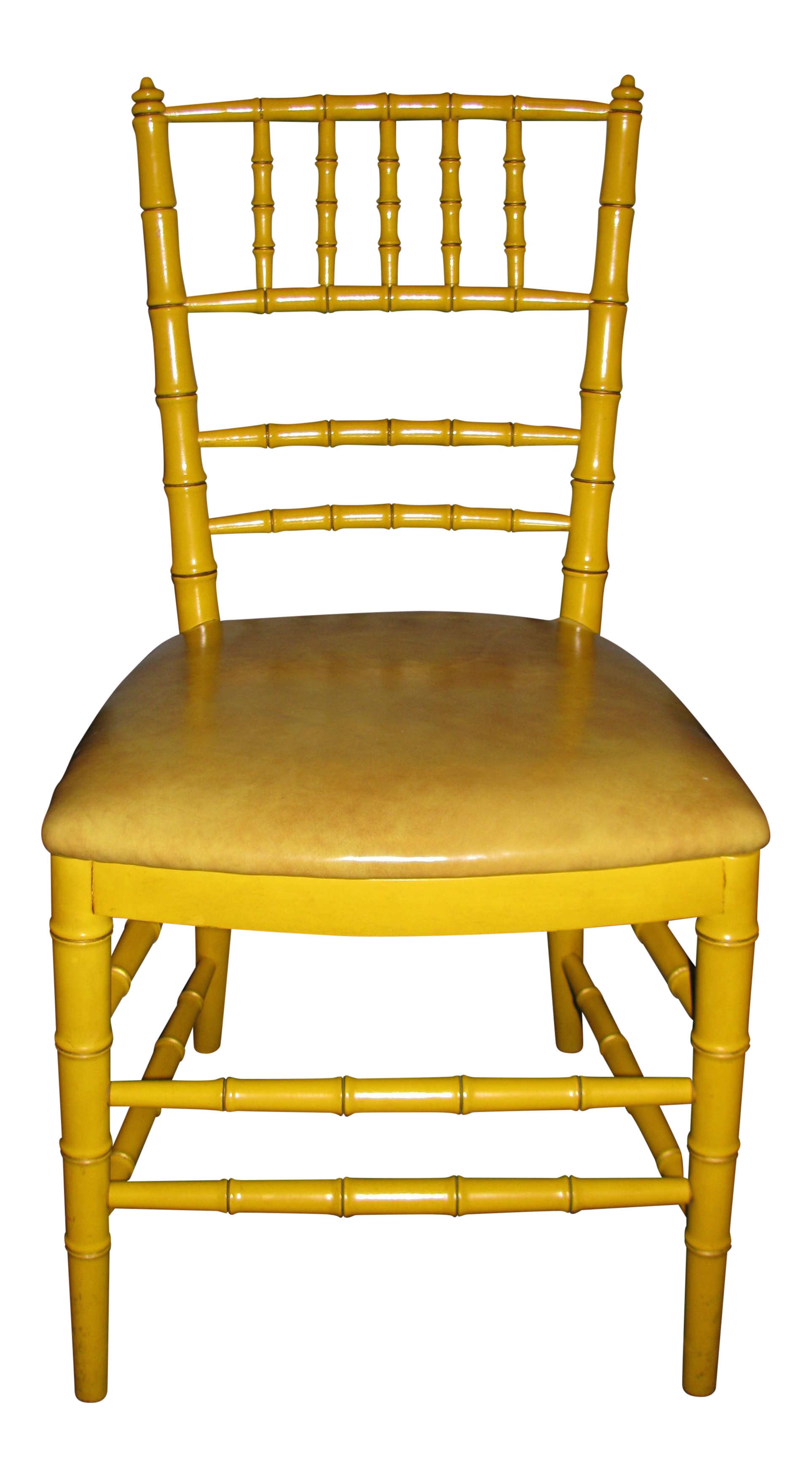 midcentury modern hollywood regency yellow bamboostyle chair