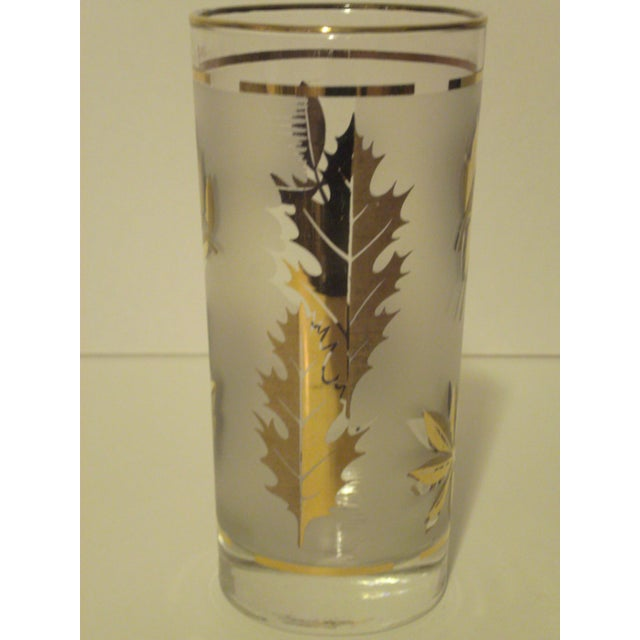 Gold Leaf Pattern Barglasses - Set of 12 - Image 7 of 7