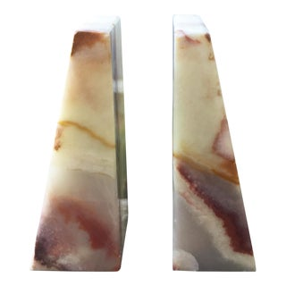 Modern Onyx Bookends - A Pair