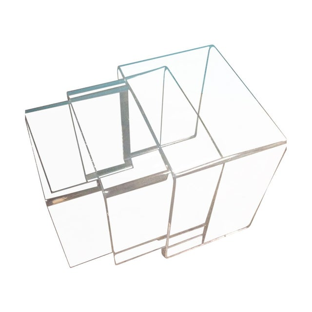 Vintage Lucite Nesting Tables - Image 1 of 4