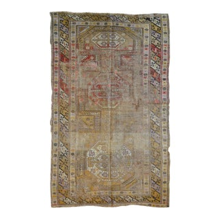 "Distressed Vintage Kazak Rug - 3'5"" X 5'10"""