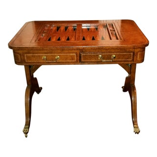 Maitland Smith English Regency Leather Game Table