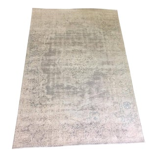 "Vintage Distressed Turkish Romance Rug - 5'3"" X 7'3"""