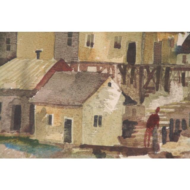 Original Bruce Spicer Vintage Coastal Watercolor Painting - Image 8 of 9