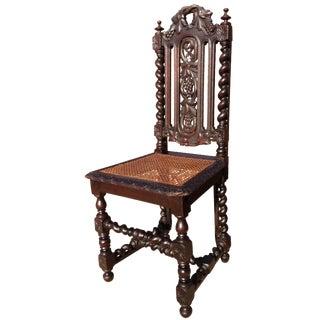 Antique Black Forest Renaissance Hunt Chair