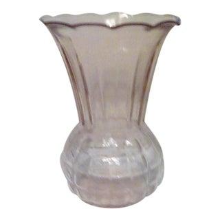 Vintage Pink Glass Vase