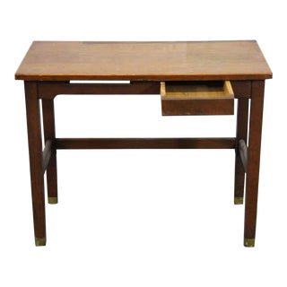 Small Antique Danish Modern Desk With One Drawer