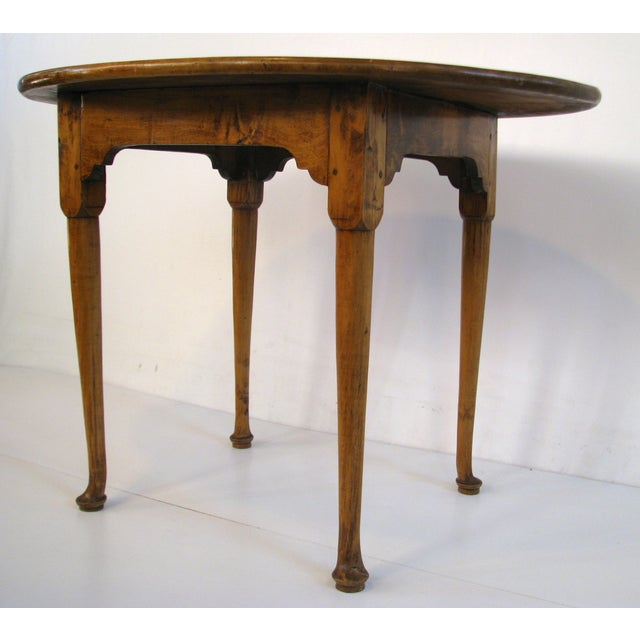 Queen Anne Birds-Eye Maple Oval Tea Table 18th C - Image 4 of 11