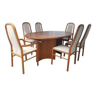 Danish Dining Table & 6 Chairs - Set of 7