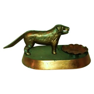 Art Deco Dog Nut Cracker Copper Cast Iron