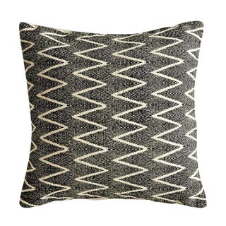 Natural and Black Printed Pillow