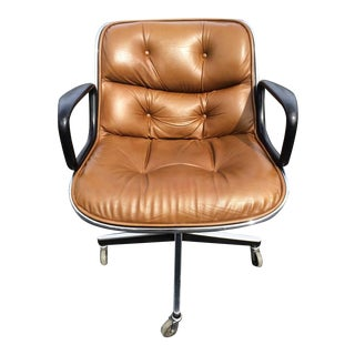 Charles Pollock for Knoll Executive Office Desk Chair in Leather
