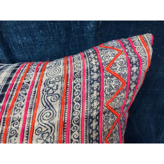 Hmong Tribal Batik Pillow - Image 3 of 7